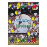Tarjeta de la invitación del fiesta del béisbol