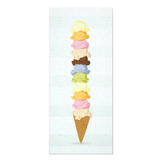 Tarjeta de la invitación del helado invitación 10,1 x 23,5 cm
