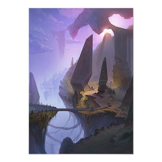 Tarjeta de la invitación del mundo de fantasía