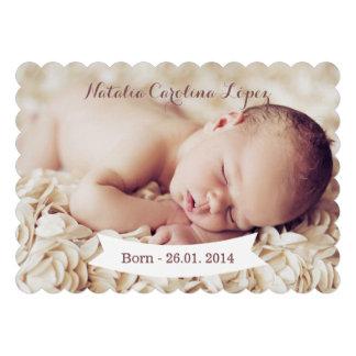 Tarjeta de la invitación del nacimiento de la foto