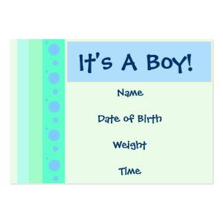 Tarjeta de la invitación del nacimiento del bebé plantillas de tarjetas de visita