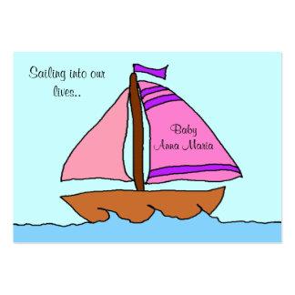 Tarjeta de la invitación del nacimiento del velero plantilla de tarjeta personal