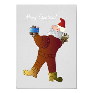 Tarjeta de la invitación del navidad con Santa