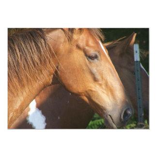 Tarjeta de la invitación del primer del caballo