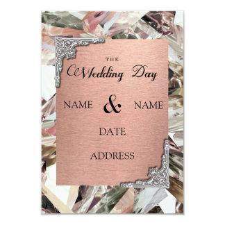 Tarjeta de la invitación para los bodas
