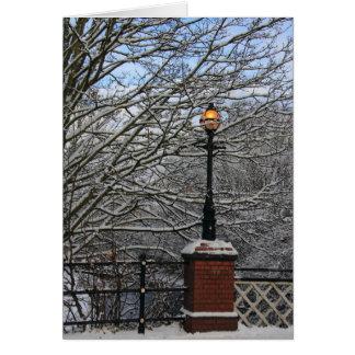 Tarjeta de la lámpara Nevado