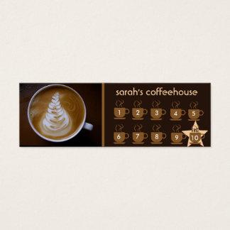 tarjeta de la lealtad de la cafetería