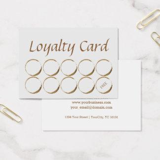 Tarjeta de la lealtad de la cafetería - mancha del