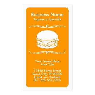 tarjeta de la lealtad de la hamburguesa de la MOD Tarjetas De Visita