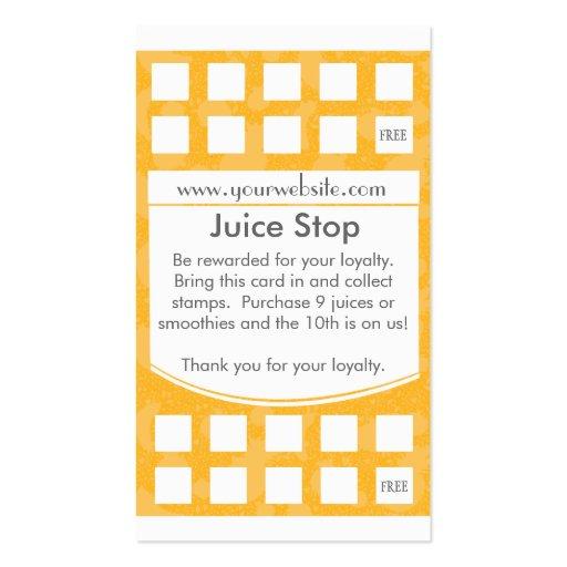 Tarjeta de la lealtad de la tarjeta de visita del