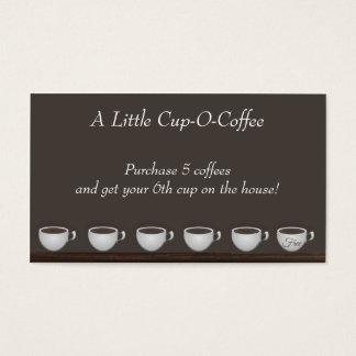 Tarjeta de la lealtad de los ahorros del café