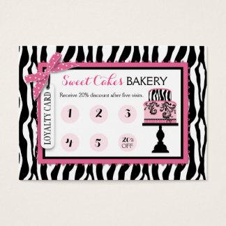 Tarjeta de la lealtad del negocio de la panadería