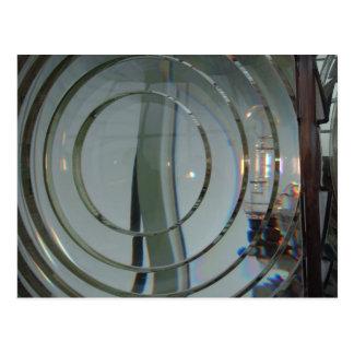 Tarjeta de la lente de Fresnel del faro de Blanco Postal