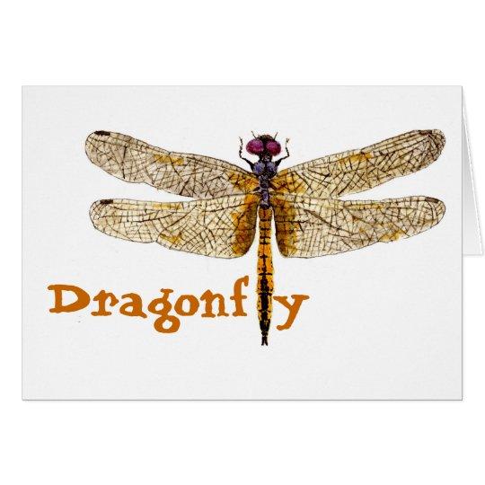 Tarjeta de la libélula