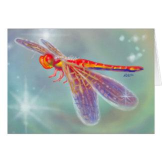 """Tarjeta de la """"libélula que brilla intensamente"""""""