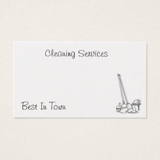 Tarjeta de la limpieza