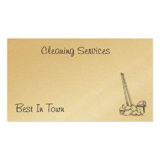 Tarjeta de la limpieza tarjetas de visita
