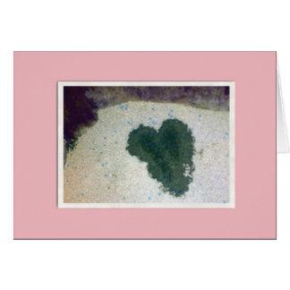 Tarjeta de la litera del gatito del corazón