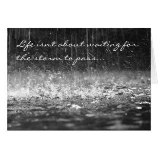 Tarjeta de la lluvia