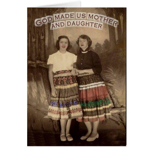 Tarjeta de la Madre-Hija