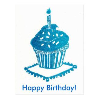 Tarjeta de la magdalena del feliz cumpleaños postal