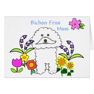 Tarjeta de la mamá de Bichon Frise
