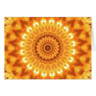 Tarjeta de la mandala de la sol y de la felicidad