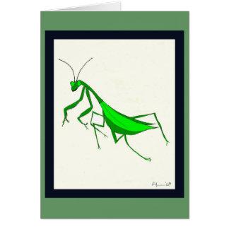 Tarjeta de la mantis religiosa