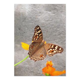 Tarjeta de la mariposa de Brown Invitación 12,7 X 17,8 Cm