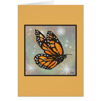 "Tarjeta de la ""mariposa que brilla intensamente"""