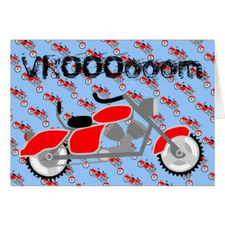 Tarjeta de la moto de VROOOooom