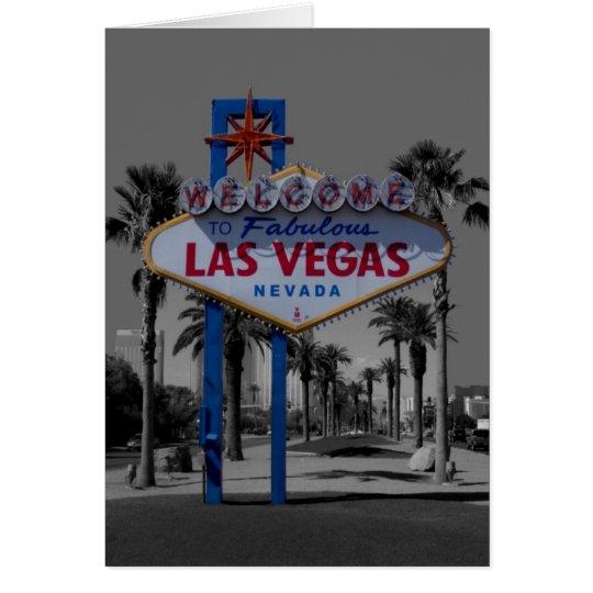 Tarjeta de la muestra de Las Vegas