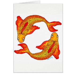 Tarjeta de la muestra del zodiaco de los pescados