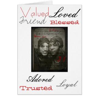 Tarjeta de la mujer del afroamericano de los