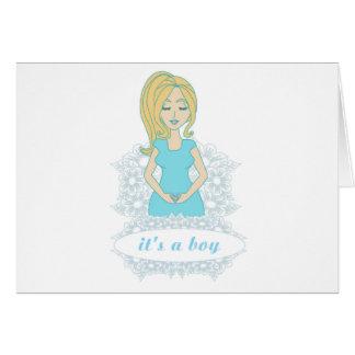 tarjeta de la mujer embarazada