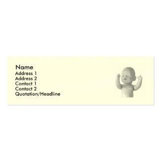 tarjeta de la muñeca tarjetas de visita mini