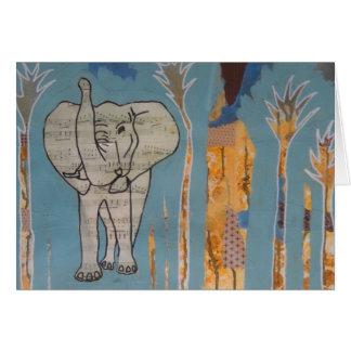 Tarjeta de la música del elefante