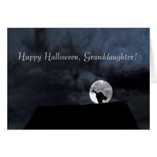 Tarjeta de la nieta del feliz Halloween