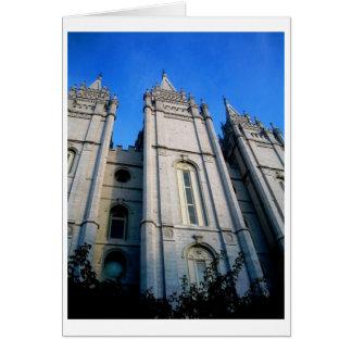 Tarjeta de la opinión del templo