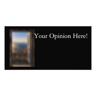 Tarjeta de la opinión tarjetas fotográficas