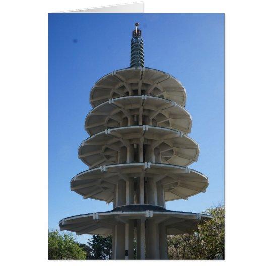 Tarjeta de la pagoda de la paz de San Francisco