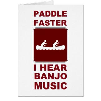 Tarjeta De la paleta música del banjo I más rápidamente