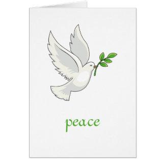 Tarjeta de la paloma de la paz