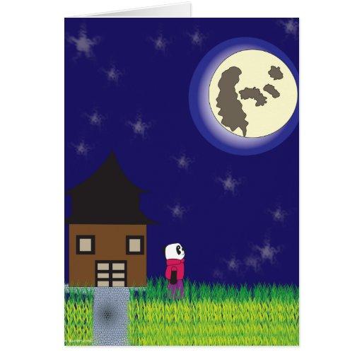 Tarjeta de la panda de las buenas noches