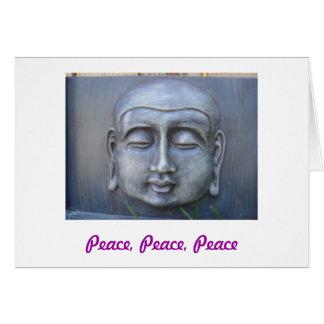 Tarjeta de la paz de Buda