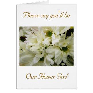Tarjeta de la petición del florista del crisantemo