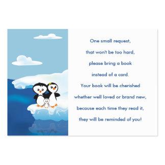 Tarjeta de la petición del libro de la familia del tarjetas de visita grandes