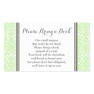 Tarjeta de la petición del libro de la fiesta de tarjetas de visita