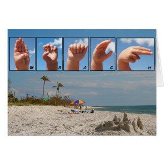 Tarjeta de la playa de SLG