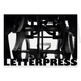 tarjeta de la prensa de copiar